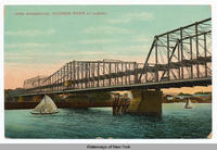 LONG DRAWBRIDGE, HUDSON RIVER AT ALBANY. [front caption] (1front) [h0064ac1]