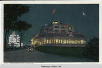 CLAREMONT AT NIGHT, NEW YORK. [front caption] (1front) [h0014ac1]