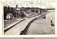 Speedway and Washington Bridge, N.Y. [front caption at left side of card] (1front) [h0033ac1]