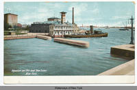 "Aquarium and Fire-boat ""New Yorker,"" New York [front caption] (1front) [h0039ac1]"