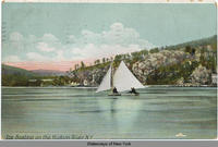 Ice Boating on the Hudson River, N.Y. [front caption] (2back) [h0090ac2]