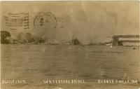 BUILT 1804. WATERFORD BRIDGE. BURNED JULY 10, 1909.[hand printed front caption] (1front) [h0050ac1]