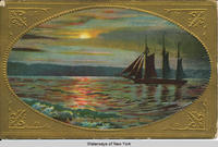 A Night Scene on the Hudson River [front caption] (1front) [h0055ac1]