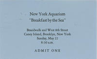 Admission ticket to Breakfast by the Sea event, May 22, New York Aquarium