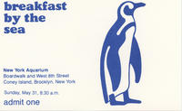 Admission ticket to Breakfast by the Sea event, May 31, 1981, New York Aquarium