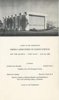 Program for Cornerstone Laying Ceremony of the Osborn Laboratories of Marine Sciences at the New York Aquarium