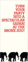 Brochure for parties at the Bronx Zoo