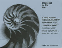 Invitation to Breakfast by the Sea event, May 6 and 7, 1978, New York Aquarium