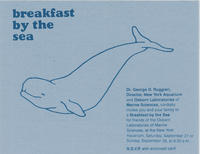 Invitation to Breakfast by the Sea event, September 27 and 28, 1980, New York Aquarium