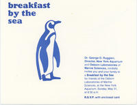 Invitation to Breakfast by the Sea event, May 31, 1981, New York Aquarium
