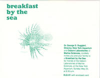 Invitation to Breakfast by the Sea event, May 23, 1982, New York Aquarium