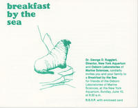 Invitation to Breakfast by the Sea event, June 10, 1984, New York Aquarium