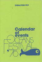 Oceans Festival 1976 Calendar of Events, New York Aquarium