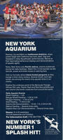 Brochure, New York Aquarium, Dolphin and trainer front cover, circa 1980-1989