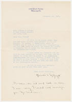 Henriette T. McKnight to Mrs. Force, November 12, 1927