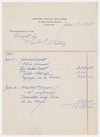Bought by Mrs. H.P. Whitney, Jan. 17, 1930