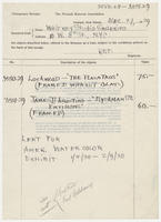 Temporary receipt, the Newark museum association, Dec. 27, 1929