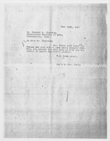 Sec'y to Mrs. Force to Mr. Russell A. Plimpton, December 29, 1927