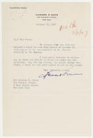 Howard S. Gans to Mrs. Juliana R. Force, October 31, 1927