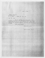 Sec'y to Mrs. Force to John C. Fox Co., May 8, 1928