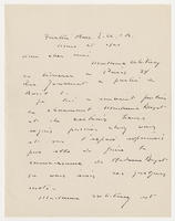 O'Connor to Monsieur Armand Dayot, Mars 25, 1921