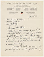 Arnold Ronnebeck to Mrs. Juliana R. Force, Jan. 31st, 28