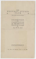 Exhibition of paintings & drawings : selected and arranged by Mr. W.E. Hill : January 23rd to February 6th [1924]