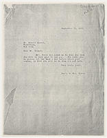 Sec'y to Mrs. Force to Mr. Arnold Blanch, September 25, 1929