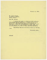 JRF to Cecil Howard, January 11, 1930