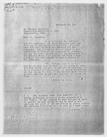 J.R. Force to Mr. Russell Plimpton, November 22, 1927
