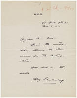 Henry Schnakenberg to Mrs. Force, Nov 2, 27