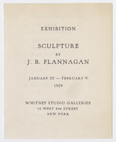 Sculpture by J. B. Flannagan : exhibition, January 22-February 9, 1929