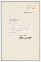 Secretary to Mrs. Holmes to Mrs. Juliana R. Force, October 28, 1927