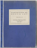 Exhibition of Greek art : February-March, 1925
