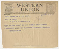 Herndon Smith to Mrs J.R. Force, May 19, 1928, 12:53 PM