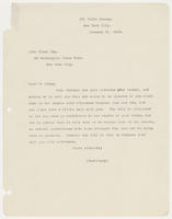 Secretary for Mrs. Whitney to John Sloan Esq., January 11, 1916