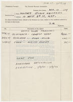 Temporary receipt, the Newark museum association, Dec. 19, 1929