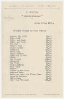 Revised Prices on Kent Prints, March 13th, 1929