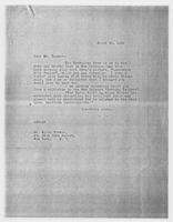 JRF to Mr. Allen Tucker, March 16, 1928