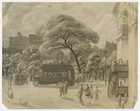 Buses in Washington Square