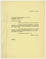 JRF to Mr. George William Eggers, December 21, 1929