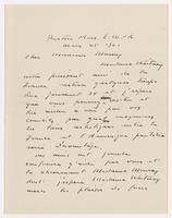 A. O'Connor to Monsieur [unidentified recipient], Mars 25, 1921