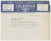 Juliana R. Force to Mrs. Sumner T. McKnight, November 11, 1927