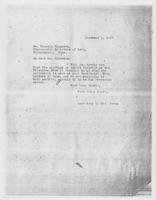 Secretary to Mrs. Force to Mr. Russell Plimpton, December 5, 1927