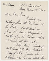 Herndon Smith to Mrs. Force, March 12, 1928