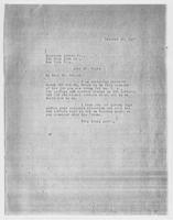 EF to Mr. Sears, American Letter Co., October 20, 1927