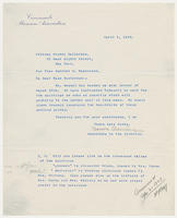 Secretary to the Director, Cincinnati Museum Association, to Miss Harriet H. Masterson, April 1, 1929