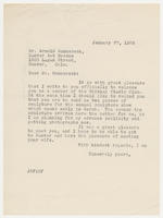 JRF to Mr. Arnold Ronnebeck, January 27, 1928