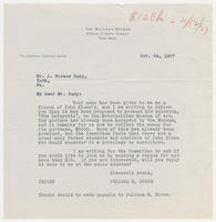Juliana R. Force to Mr. J. Horace Rudy, Oct. 24, 1927