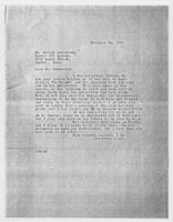 JRF to Mr. Arnold Ronnebeck, February 29, 1928